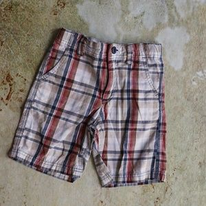 Gap plaid shorts adjustable waist